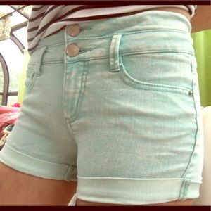 Light blue jean shorts